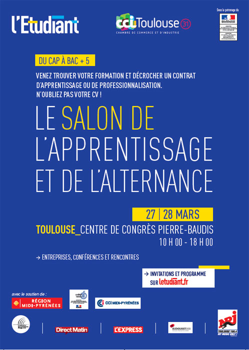 Salon de l 39 apprentissage et de l 39 alternance de toulouse - Salon de l alternance et de l apprentissage ...