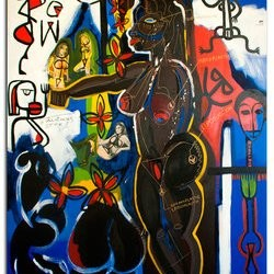 Black Magic Woman - Technique mixte sur toile 80 cm x 200 cm – 2014